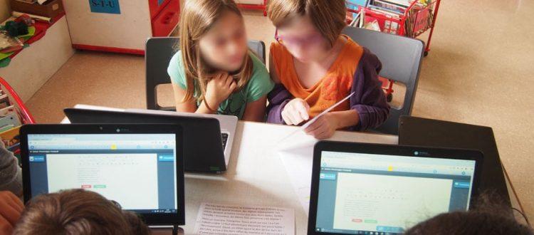 Travail de création d'un récit collaboratif à l'école élémentaire de Champagné Saint Hilaire