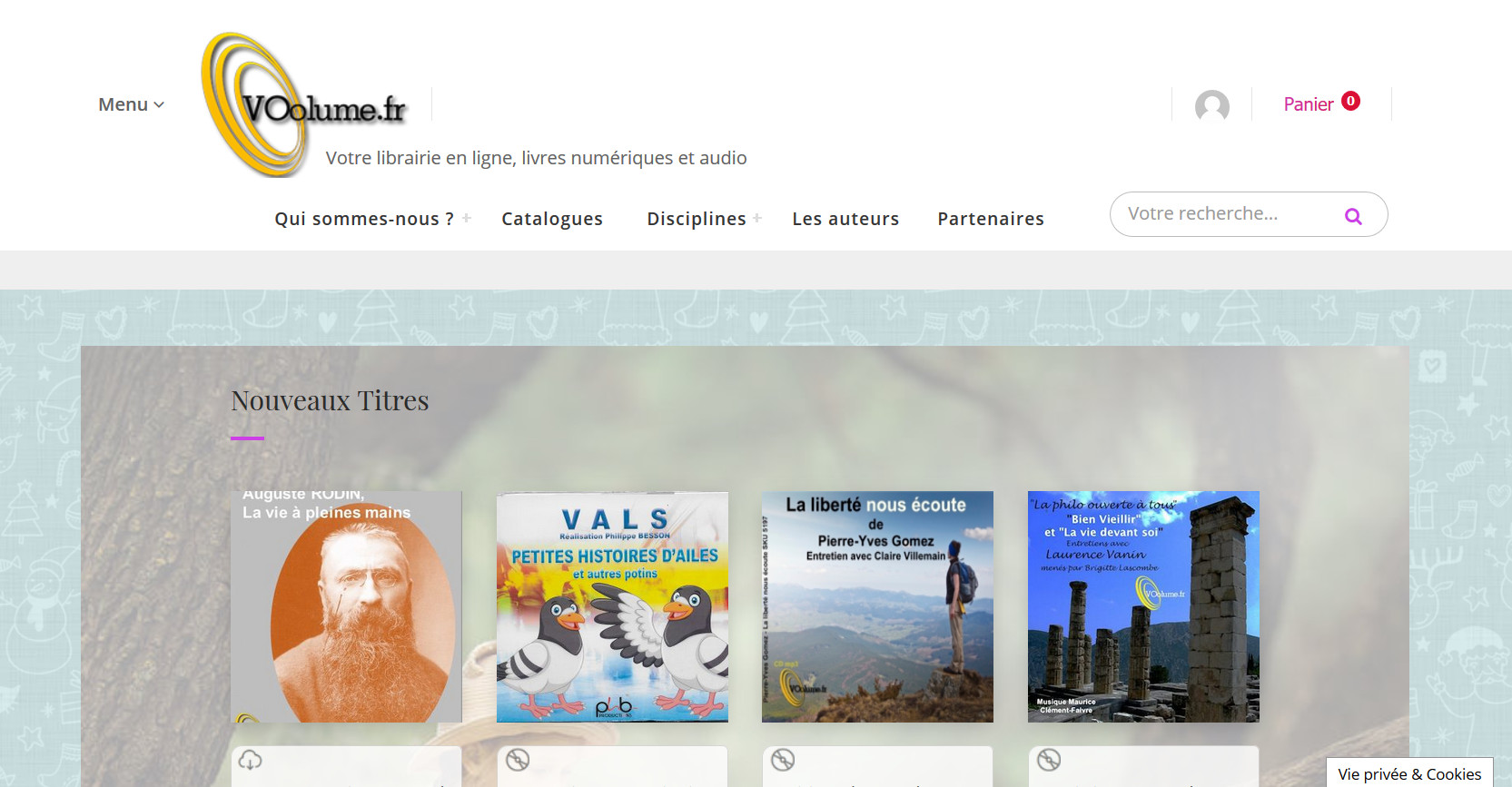 VOolume.fr livres audio