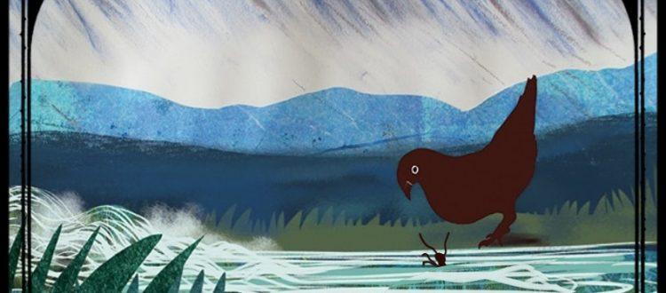 La colombe et la fourmi, Jean de La Fontaine, livre audio, livre jeunesse, livre interactif, illustratrice Hélène Lacquement