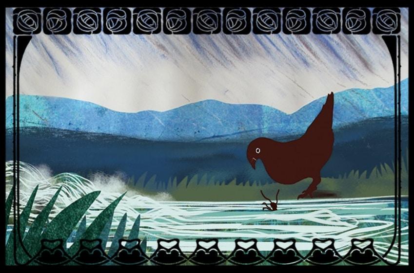 Le lion et le rat, La colombe et la fourmi de Jean de La Fontaine, livre audio, livre animé Scéalprod