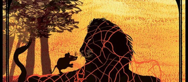 Le lion et le rat, Jean de La Fontaine, livre audio, livre jeunesse, livre interactif, illustratrice Hélène Lacquement