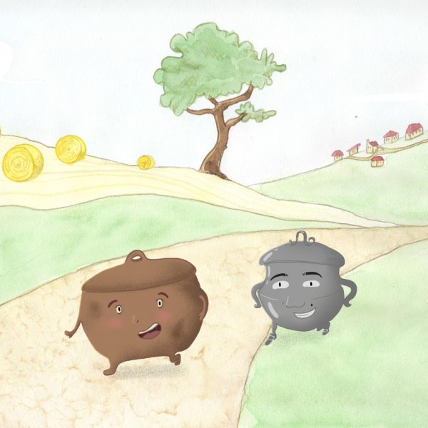 Pot de Terre pot de Fer, Jean de La Fontaine,  livre audio, livre jeunesse, livre interactif,  illustratrice Loréléï Lebuhotel