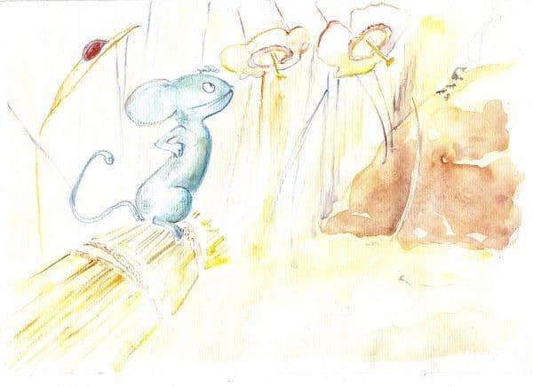 Le chat et le souriceau, Jean de La Fontaine, livre audio, livre jeunesse, livre interactif, illustratrice ClementineT