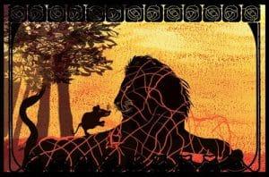 Le lion et le rat, livre audio, livre jeunesse, livre interactif